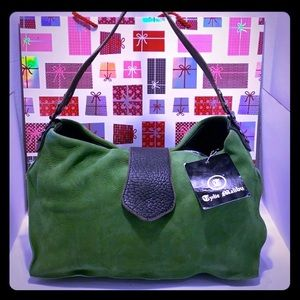 NEW/ NWT Tylie Malibu Leather Green Shoulder Bag